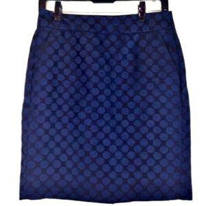 Banana Republic Black & Blue Polka Dot Skirt